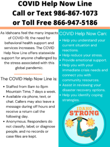 Covid Help Now Hotline info