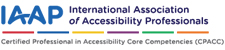 logo international association for accessiblity professionals