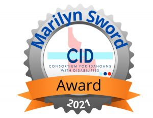 text readys marilyn sword award 2021 consortium for idahoans with disabilities