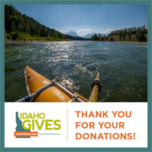 idaho gives thank you for your donations