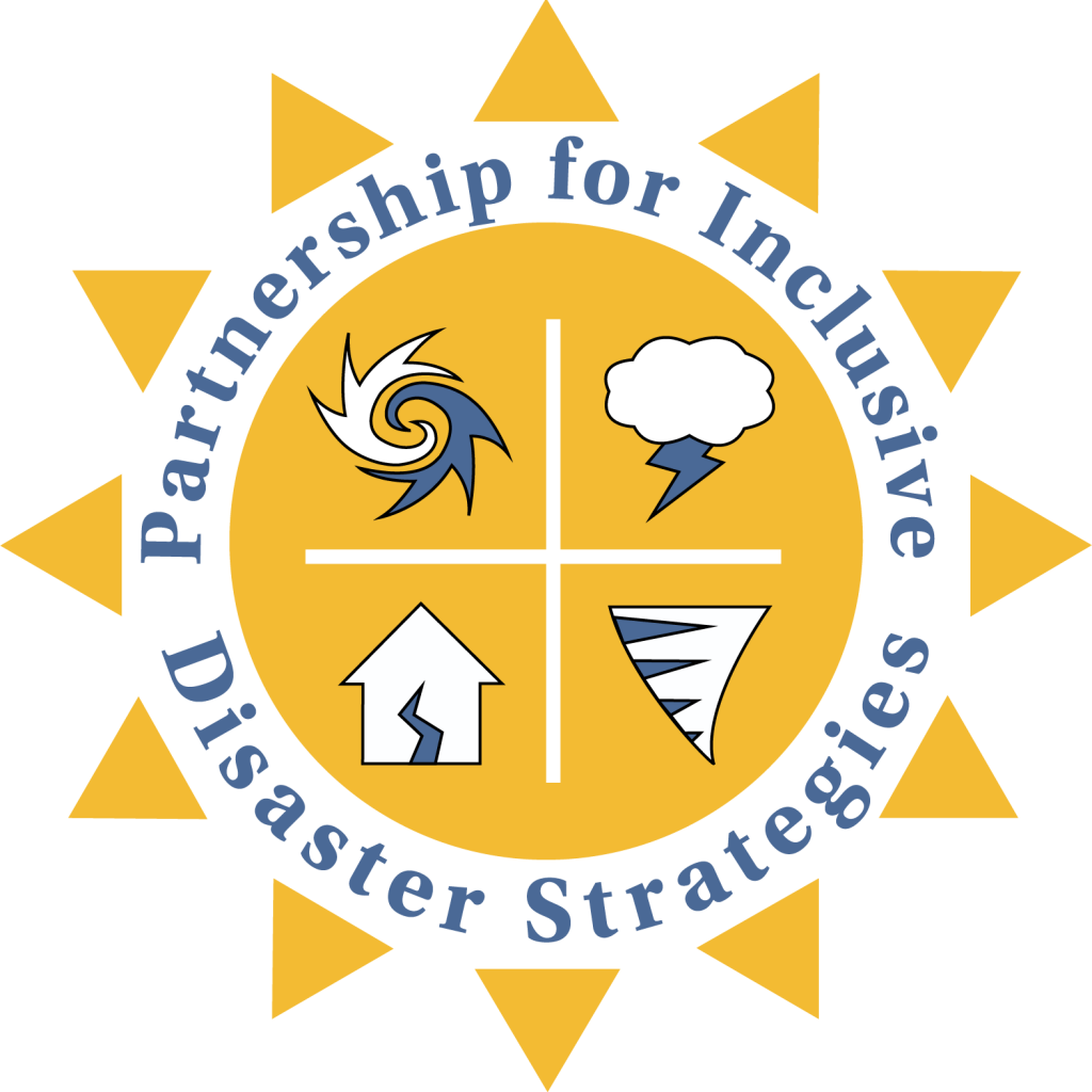 graphic reads: Partnership for Inclusive Disaster Strategies